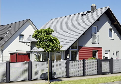 Zaun, Gehtür, Alutzaun, Gartentür, Superzaun, Onlineshop, Davinci