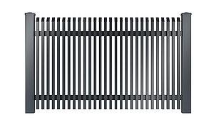 Freigestelltes Bild des Gartenzauns Lichtenberg aus Aluminium von Super-Zaun in anthrazit