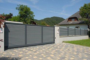Göthe, Super-Zaun, Deutschland, Schiebetor, Tor, Trento, blickdicht, modern