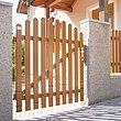 Gartentür aus Aluminium in Holzoptik