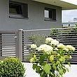 Newton, Super-Zaun, Deutschland, Lamellenzaun, grau, kreativ, hoch, Sichtschutz, modern, Gehtüre
