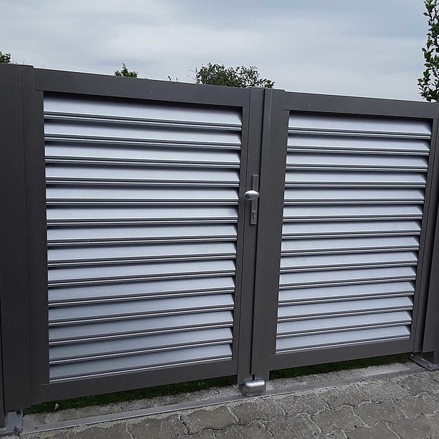 Göthe, Super-Zaun, Deutschland, Aluminium, Alutor, Aluminiumtor, Tore, Gartentor, Sichtschutz, Sichtschutz garten