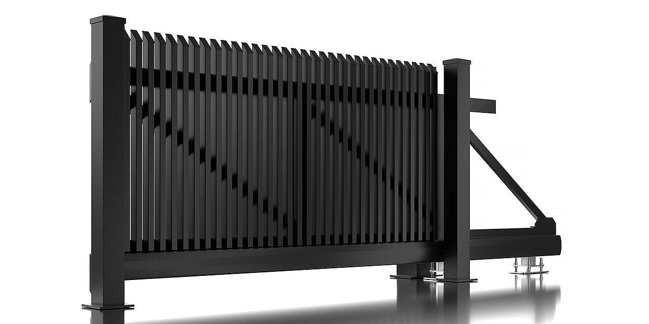 Freigestelltes Bild des Schiebetors Lichtenberg aus Aluminium von Super-Zaun