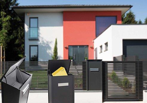 Paketbox, Paketdienst, Alu, Aluminium, Superzaun, Design, Post, DPD
